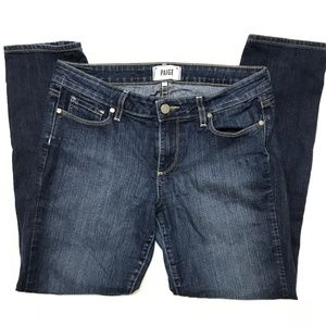 Paige Skyline Ankle Peg Skinny Jeans Dark Wash 30